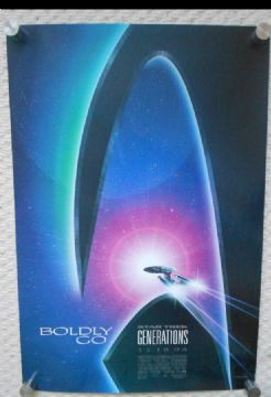 Star Trek Generations, Original Adv Poster, U.S.S Enterprise, Shatner, '94